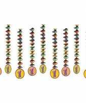 1 jaar decoratie spiralen 9x stuks trend