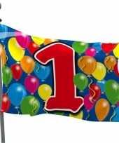 1 jaar feestartikelen vlag trend