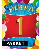 1 jarige feestversiering pakket trend