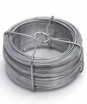 1 rolletje ijzerdraad binddraad binddraden staal verzinkt 1 5 mm x 50 m trend