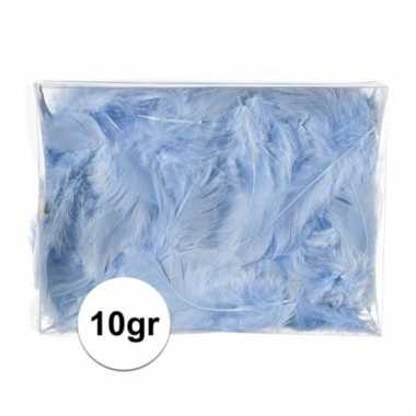 10 gram blauwe decoratie dons veren