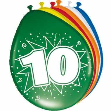 10 jaar versiering ballonnen 30cm 16x stuks