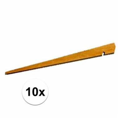 10 kampeerartikelen houten tentharingen