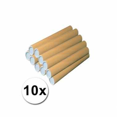 10 kokers van karton voor handwerkjes 50 cm