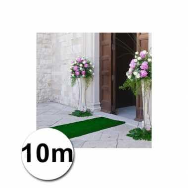 10 meter groene loper 1 meter breed