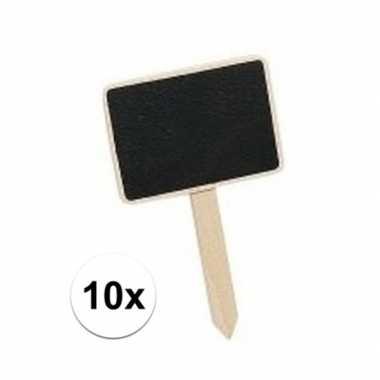 10 mini krijtbordjes op stokje 7 cm