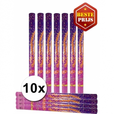 10 party confetti shooters 80 cm