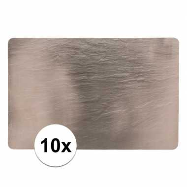 10 placemats leisteen look 44 x 29 cm