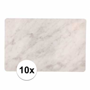 10 placemats marmer look 44 x 29 cm