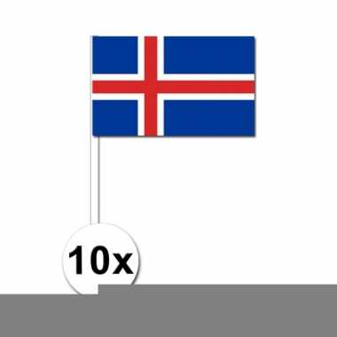 10 stuks handvlag ijsland 12 x 24 cm