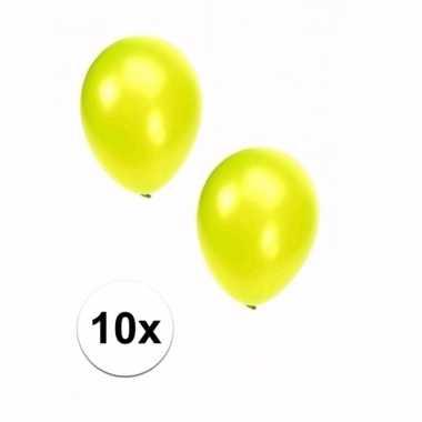 10 stuks metallic lime ballonnen 36 cm