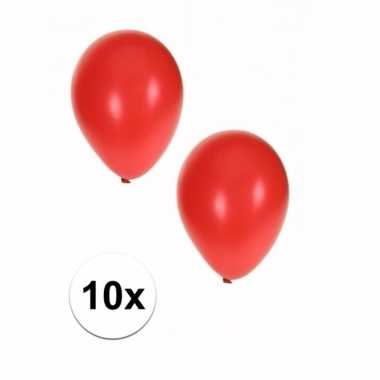 10 stuks metallic rode ballonnen 36 cm