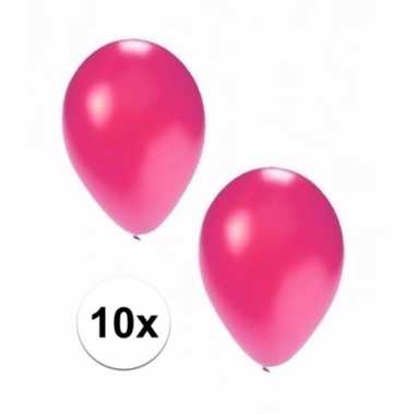 10 stuks metallic roze ballonnen 36 cm