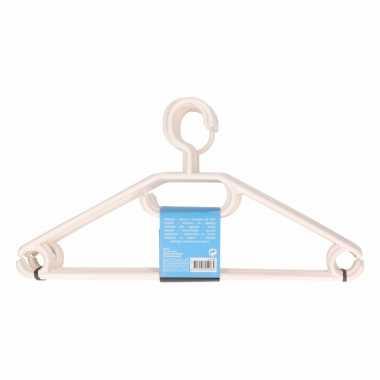 10 stuks voordelige plastic kledinghangers in het wit