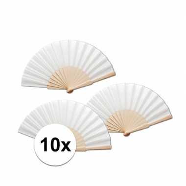 10 stuks voordelige witte spaanse waaier
