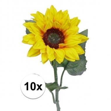10 zonnebloemen decoratie 81 cm
