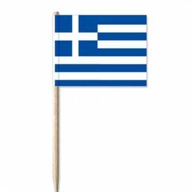 100x griekse decoratie vlaggen prikkertjes