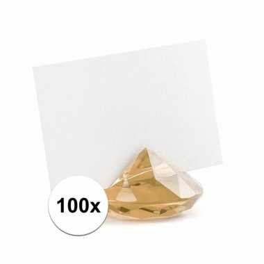 100x kaarthouder standaard gouden diamant 10x