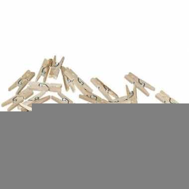 100x mini knijpers naturel