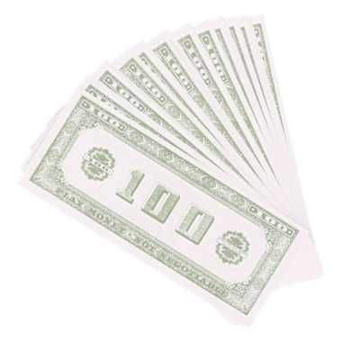 100x speelgeld nep dollar biljetten van 100 dollar
