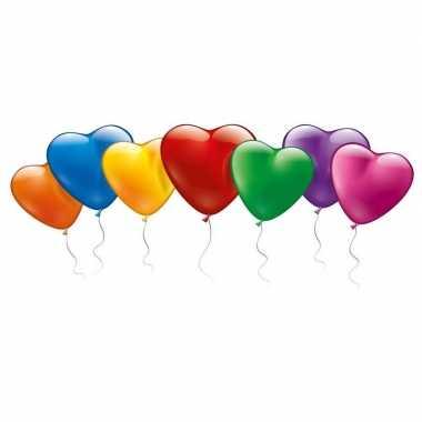 100x vrolijke hartjes ballonnen