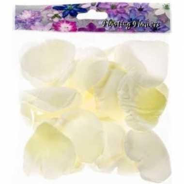 108x witte strooi rozenblaadjes decoratie