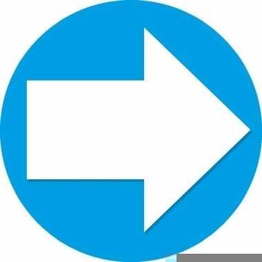 10x accent pijl sticker blauw