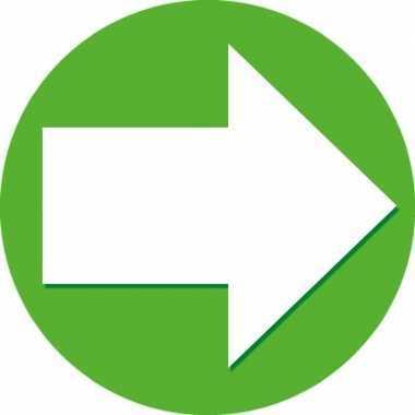 10x accent pijl sticker groen