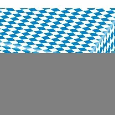 10x blauw met wit tafelkleden van 80x260 cm
