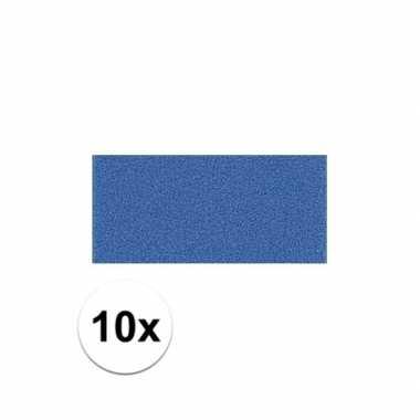 10x blauwe crepla plaat met 20 x 30 x 0 2 cm trend