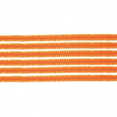 10x chenilledraad oranje 50 cm