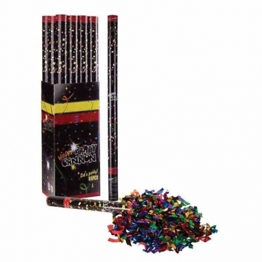 10x confetti shooters multi color 40 cm