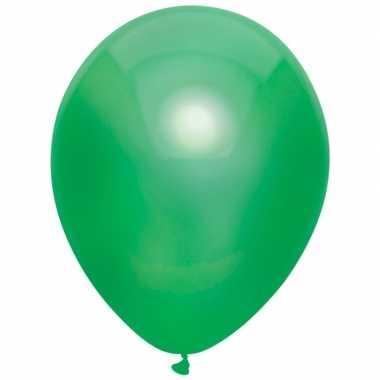 10x donkergroene metallic ballonnen 30 cm