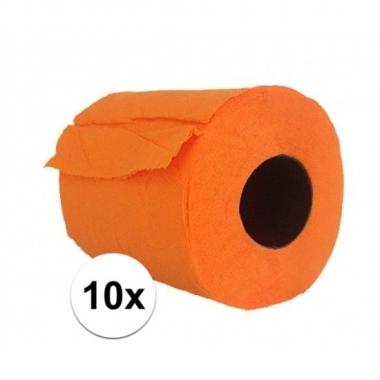 10x feest oranje toiletpapier