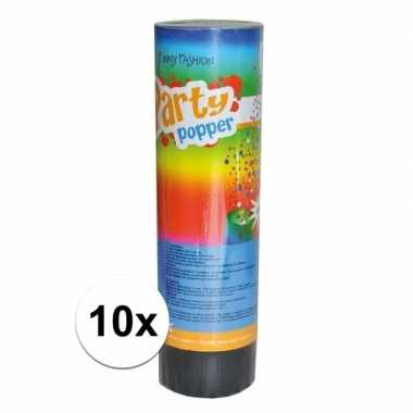 10x feest poppers 15 cm