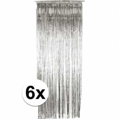 10x folie gordijn in het zilver