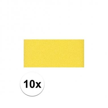 10x gele crepla plaat met 20 x 30 x 0,2 cm