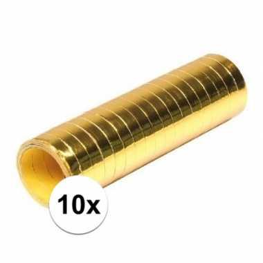 10x goudkleurige rollen serpentine