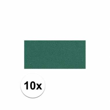 10x groene crepla plaat met 20 x 30 x 0,2 cm