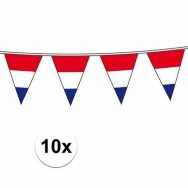 10x hollandse vlaggenlijnen 10 meter per stuk