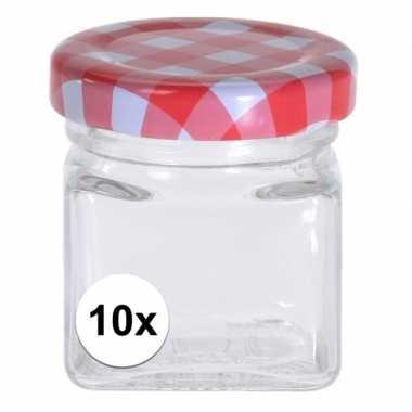 10x inmaak/weckpotten 50 ml met draaideksel