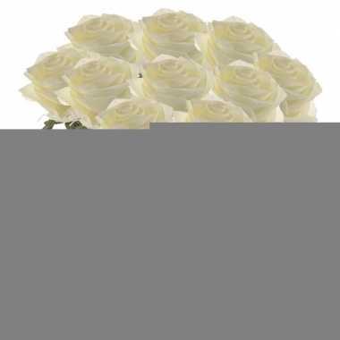 10x kunstbloem roos wit