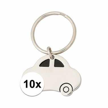 10x nieuwe auto sleutelhangers