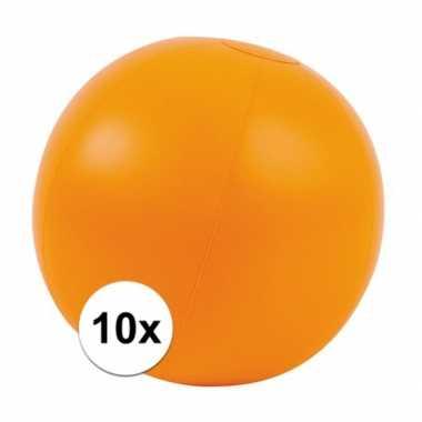 10x opblaasbare strandballen oranje