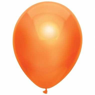10x oranje metallic ballonnen 30 cm