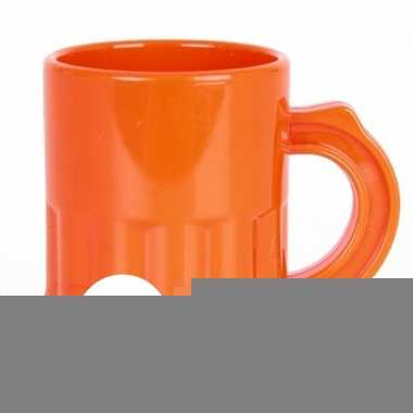 10x oranje shotglaasjes 2,5 cl