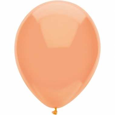 10x perzik oranje metallic ballonnen 30 cm