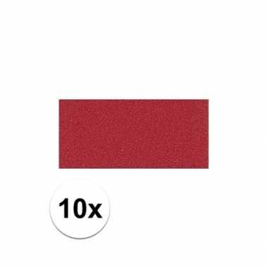 10x rode crepla plaat met 20 x 30 x 0,2 cm