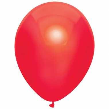 10x rode metallic ballonnen 30 cm
