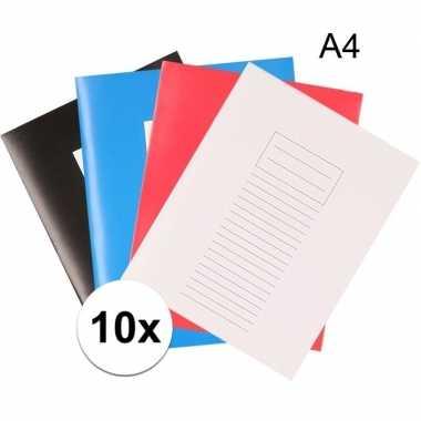 10x school schriften a4 met lijntjes